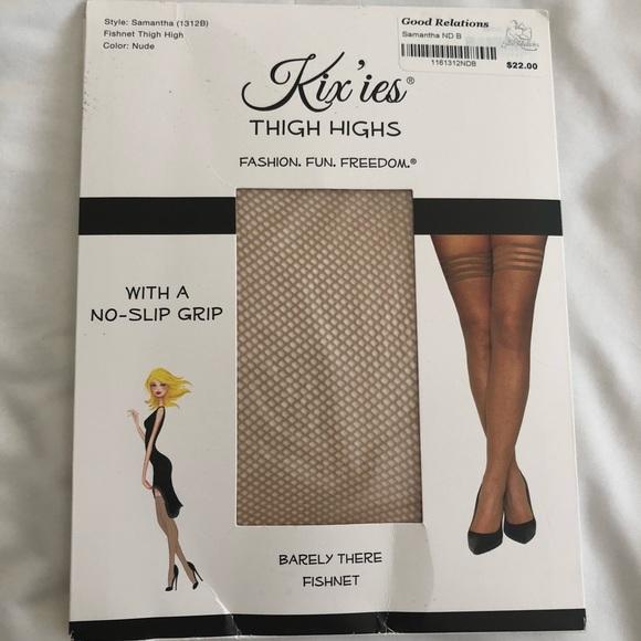 33879465e7292 kix'ies Accessories | Kixies Thigh Highs Nude Fishnet Stockings ...